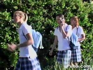 Schoolgirls share the afeter school special