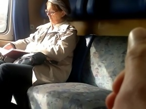 Train Dick flash to Mature - with Cum