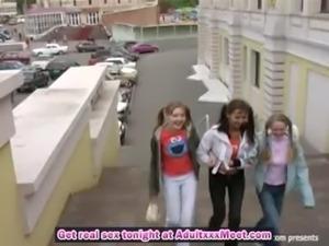 Russian girls make him happy an ... free