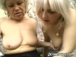 Grandmas devour each other's pussy free
