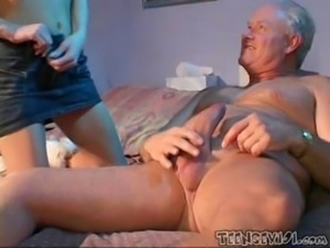 Slutty Baby Sitter Takes Good Care Of The Grandpa free