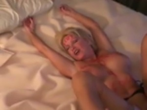 Blonde wife with body writing roughly fucked