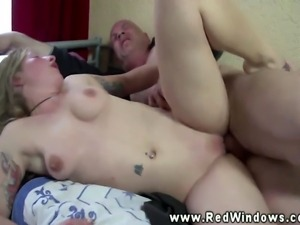 Real blonde euro hooker fucked after giving blowjob
