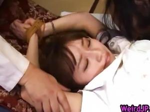 MILF Mika Osawa gets kissed