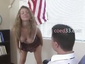 lovely 19yo student seduces teacher