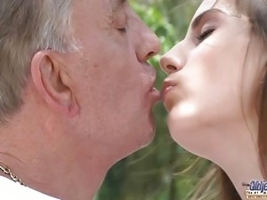 Tina bLade tricks old man for sex