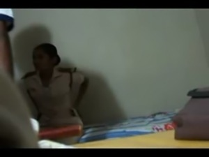 Young Indian female security officer fucked by her lover - Indian sex free