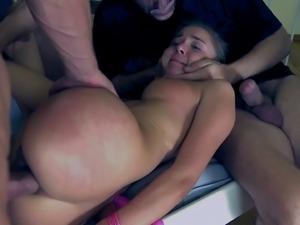 Kinky slut roxy bondage gangbang