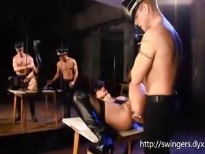 ARMY SLUT Fetish with Two Army man
