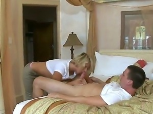 Beautiful blonde girl Brianna Beach is fucked in a gorgeous apartment with...