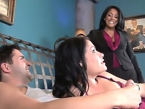 Hot ass brunettes Ashli Ames and Kiara Mia with juicy hooters pleasyre...