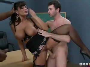 Smoking hot busty milf Lisa Ann is the teacher in