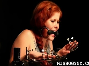 Watch this hard bondage session from Misti Dawn getting all tormented by...