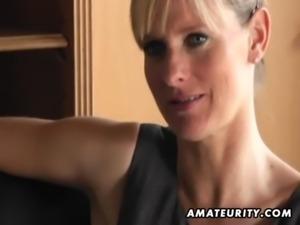 Naughty amateur Milf sucks and fucks with cumshot free