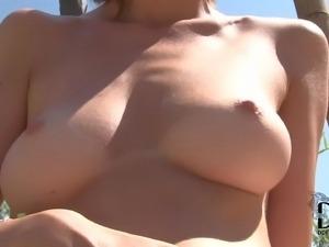 PornSharing.com porno movie - Slender turned on brunette with natural boobs...