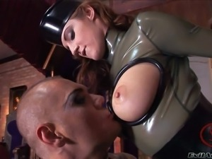 Jenna Haze and her lady friends Nicole and Katsuni enjoy in dressing up for a...
