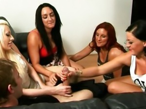 Sexy dominas in group dominating sub