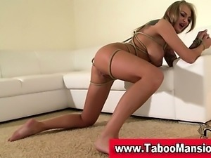 Check out blonde hoe bound with ass and pussy bdsm hooked in hd