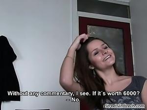 Cute brunette girl gets horny talking part5