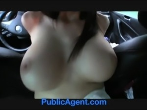 PublicAgent Natalie has huge boobs and is fucked on the backseat free