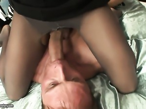 Brunette sexy with massive knockers is curious about hardcore anal hole fucking