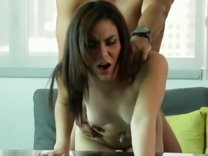 Cute Adrienne gets fucked on casting