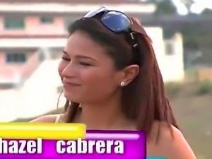 Filipina celebrity Hazel Cabrera is having sex behind the car