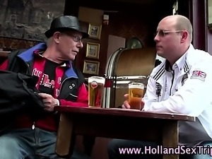 Dutch hooker sucks tourists cock
