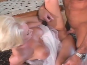 Busty bride gets all holes fucked