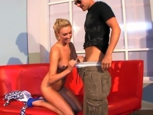 Victoria White is s young lovely blonde with juicy natural boobs. She shows...