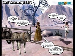 3d comic: six guns. episode 1
