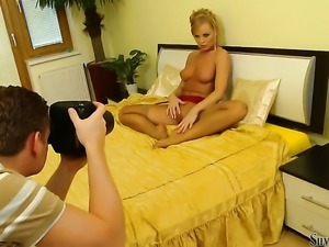 Silvia Saint gets frisky on camera