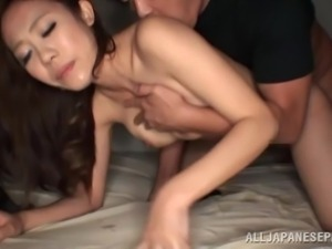 hot asian chick filled with jizz