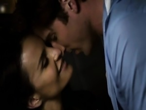 Ana Alexander having sex with a guy in the back seat of a