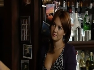 Lacey Turner in hot cleavage, downtops and leggy mix from
