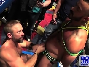 Dirk slaps around Alessio's throbbing dick to edge of orgasm
