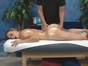 Massaging Luci's tight pussy