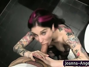 Goth pornstar sucks dick pov
