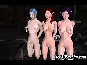 Foxy 3D elf babe getting fucked hard outdoors