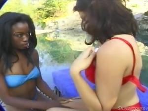 black and white girls misbehaving @ black beauties #03