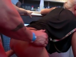 Drunk swingers get fucked at a sex party