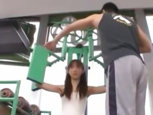 Maho has sex in the sports club