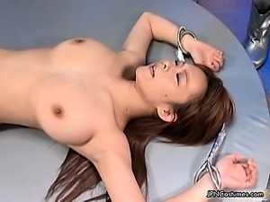 horny abducted babe is abused by two part6