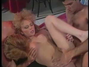 Ginger performs her strip show before beings gang banged by a group of men.