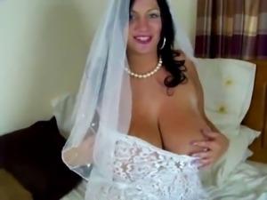 The bride Big titty tease