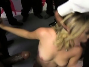 White skank bukkaked by black cocks