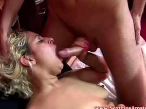 Real dutch whores ffm fun until he cums