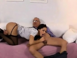 Amateur sucking old dude
