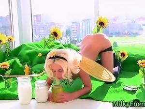 Enema loving fetish bikini blonde