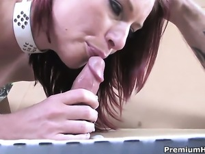 Marsha Lord gets covered in cum